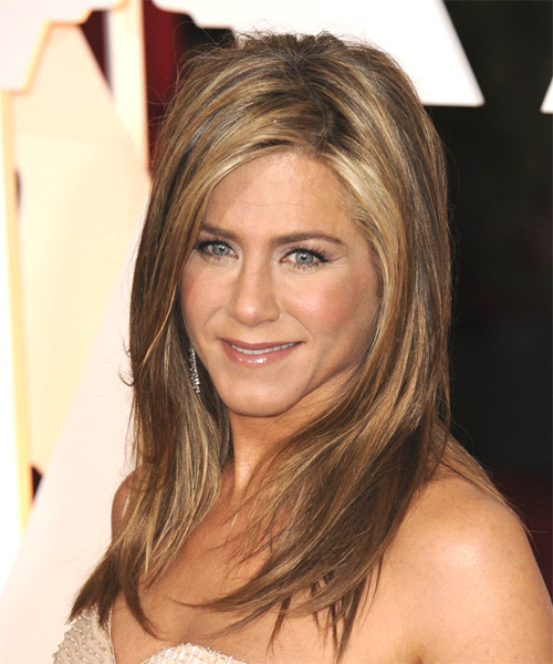 Jennifer Aniston Long Straight Casual Hairstyle - side view