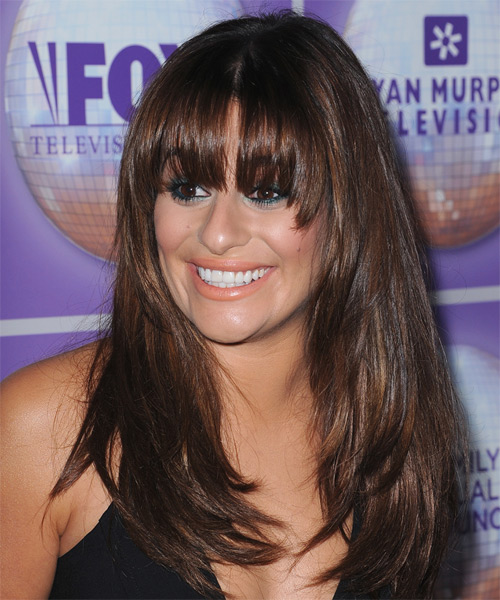 Lea Michele Straight Casual - side view