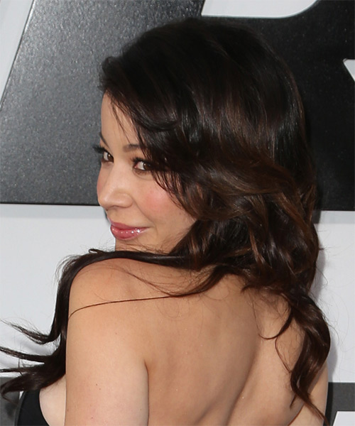 Katherine Castro Long Wavy Formal Hairstyle - side view