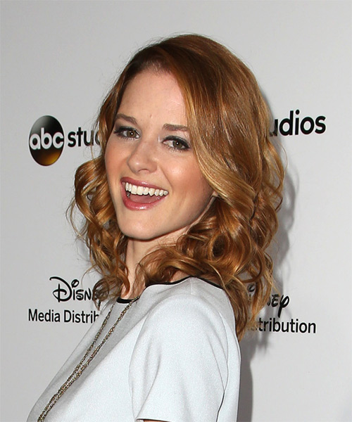 Sarah Drew Curly Formal - side view