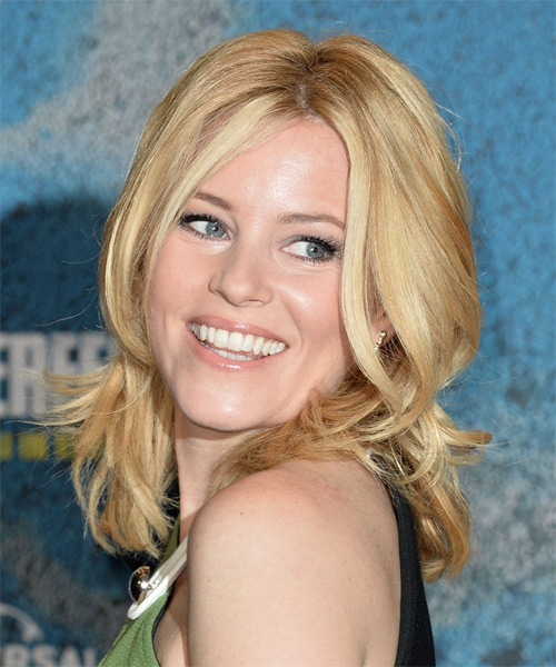 Elizabeth Banks Medium Straight Casual  - Medium Blonde (Honey) - side view