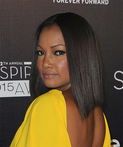 Garcelle Beauvais Medium Straight Formal Bob - Black - side view