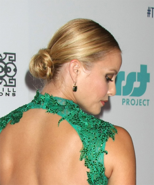 Amy Paffrath Long Straight Formal Wedding - Dark Blonde - side view