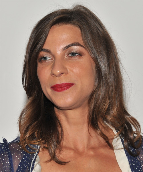 Natalia Tena Long Straight Casual  - Medium Brunette - side view