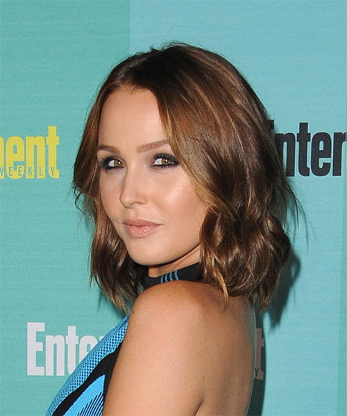 Camilla Luddington Medium Straight Casual  - Medium Brunette - side view