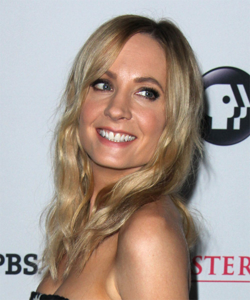 Joanne Froggatt Long Wavy Casual Hairstyle - Medium Blonde Hair Color - side view