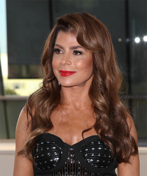 Paula Abdul Long Wavy Formal  - side view