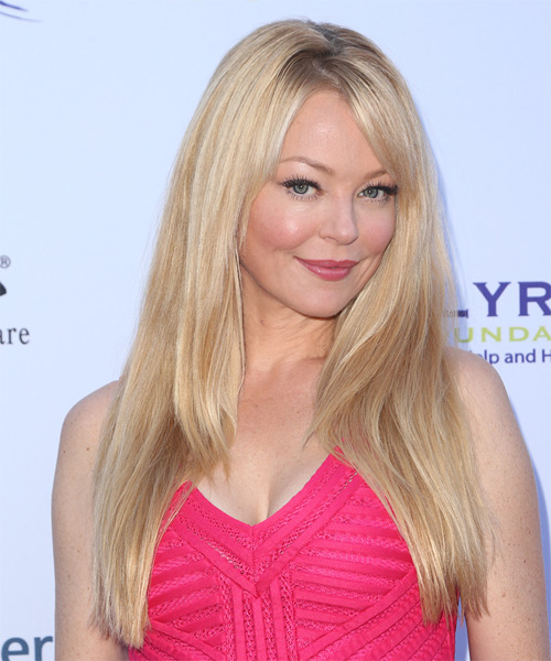 Charlotte Ross Long Straight Formal  with Side Swept Bangs - Light Blonde - side view