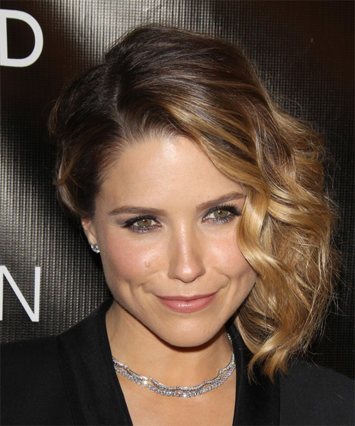 Sophia Bush Medium Wavy Formal Wedding - Dark Blonde - side view