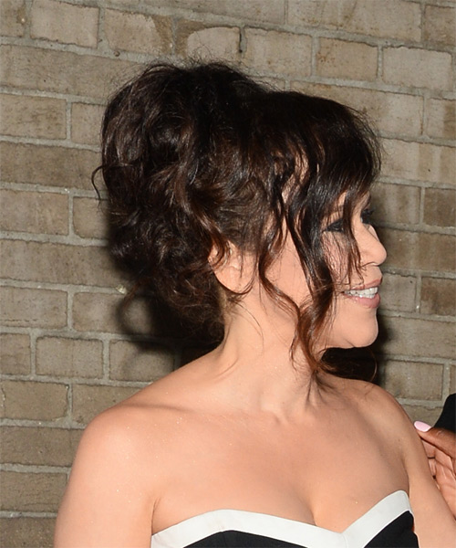 Rosie Perez Curly Formal Wedding- side view