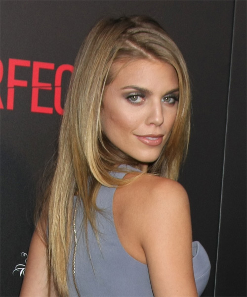 AnnaLynne McCord Long Straight Formal Hairstyle - Dark Blonde Hair Color - side view
