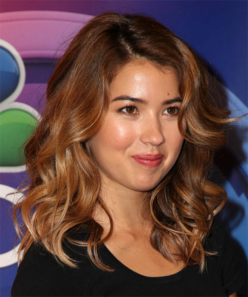 Nichole Bloom Long Wavy Casual Hairstyle Brunette Hair