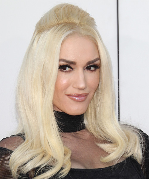 Gwen Stefani Long Straight Formal  - side view