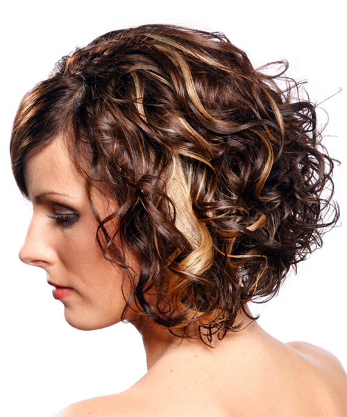 Medium Curly Formal Hairstyle - side view 1