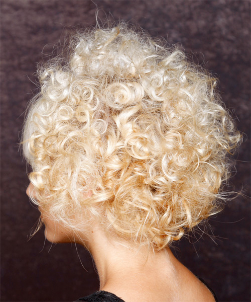 Short Curly Alternative Hairstyle - side view 1
