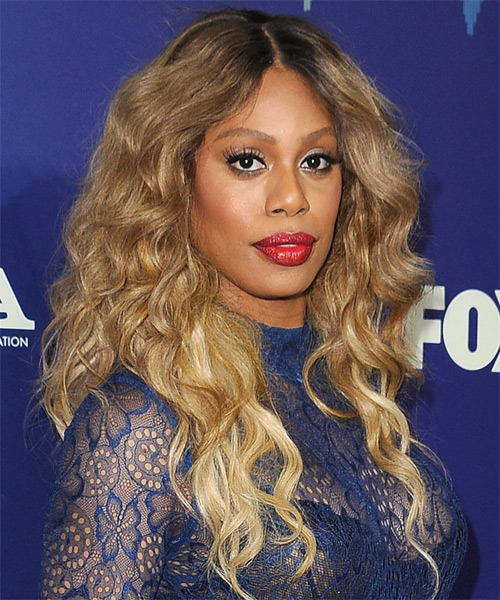 Laverne Cox Long Wavy Casual Hairstyle - side view