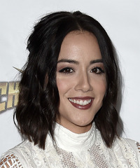 Chloe Bennet - Medium Wavy - side view
