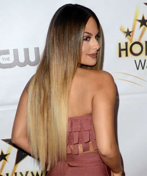 Pia Toscano Long Straight Hairstyle - Light Blonde - side view