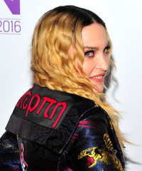 Madonna - Long Curly - side view