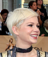 Michelle Williams Sleek - Short Straight - side view