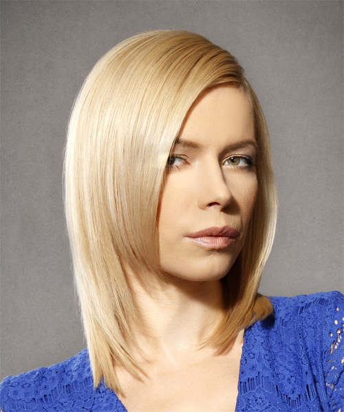 Medium Straight Formal Bob - Light Blonde - side view