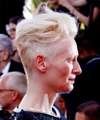 Tilda Swinton - Short Wavy - side view