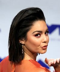Vanessa Hudgens Medium Straight Casual Bob - Black - side view