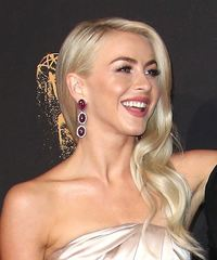 Julianne Hough Long Wavy Formal  - Light Blonde (Ash) - side view