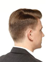 Short Straight Formal  - Light Brunette - side view