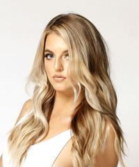 Long Wavy Casual  - Light Blonde - side view