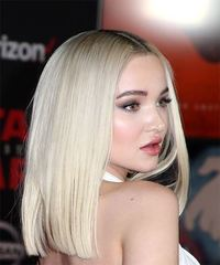 Dove Cameron Medium Straight Formal Bob - Light Blonde - side view