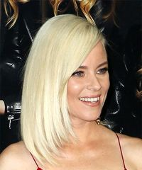 Elizabeth Banks Medium Straight Casual Bob with Side Swept Bangs - Light Blonde - side view