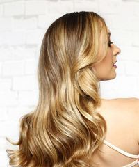 Long Wavy Casual  with Side Swept Bangs - Medium Blonde - side view