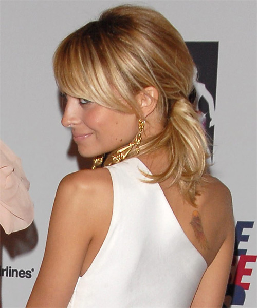 Nicole Richie Formal Straight Updo Hairstyle - side view 1