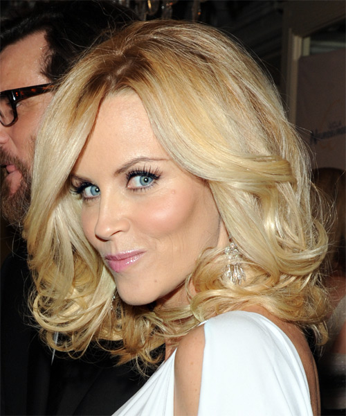 Jenny McCarthy Long Wavy Formal Hairstyle - side view