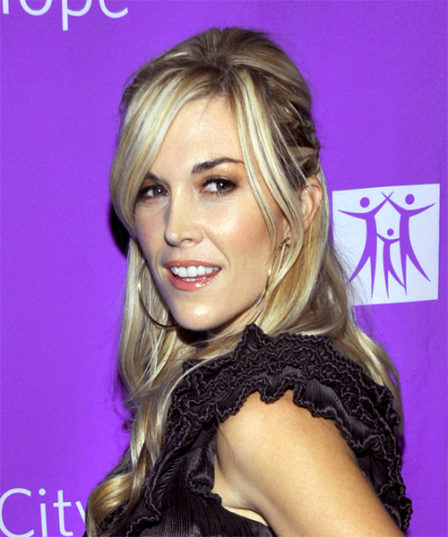 Tinsley Mortimer Formal Straight Updo Hairstyle - side view