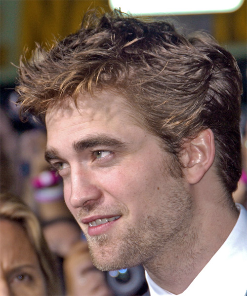 Robert Pattinson Short Straight Hairstyle - side view 1