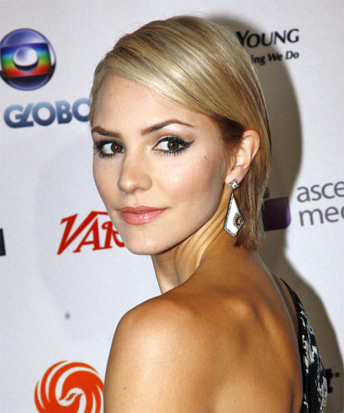 Katharine McPhee - Formal Short Straight Hairstyle - side view