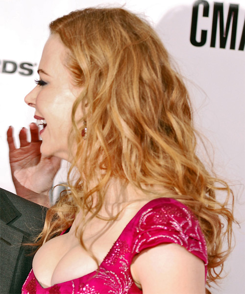 Nicole Kidman Long Wavy Hairstyle - Light Red (Copper) - side view