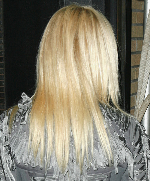 Jessica Stam Long Straight Hairstyle - side view 1