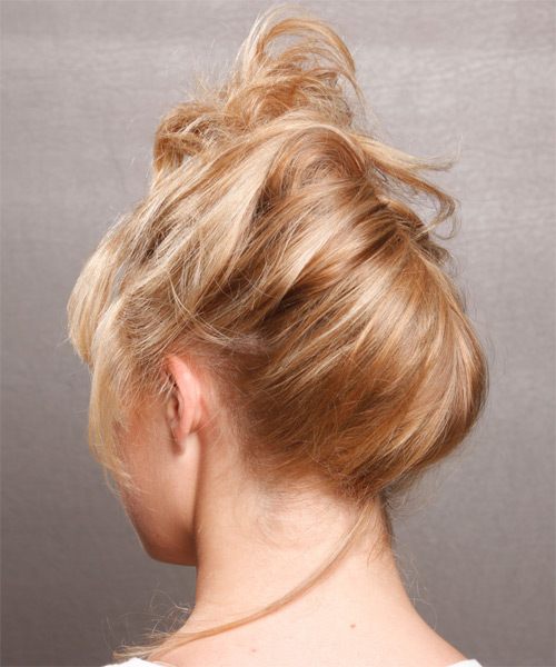 Casual Updo Long Curly Hairstyle - side view