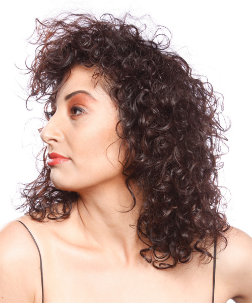 Long Curly Alternative Hairstyle - side view