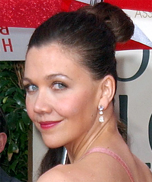 Maggie Gyllenhaal Updo Long Curly Formal Updo Hairstyle - side view