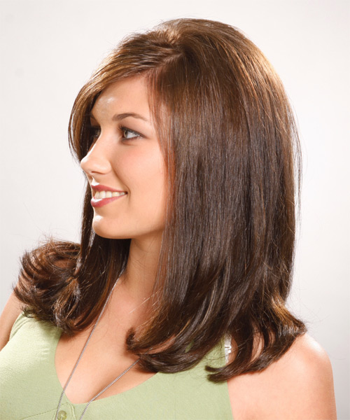 Long Straight Formal Hairstyle - side view