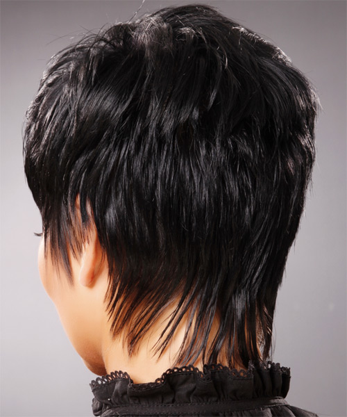 Short Straight Formal Hairstyle - side view 1