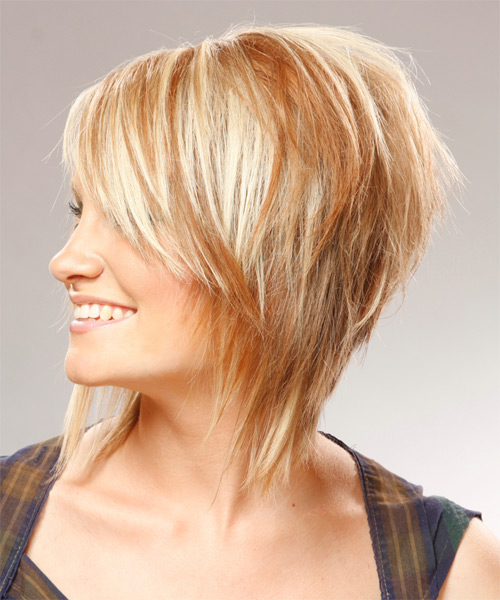 Medium Straight Casual  - side view