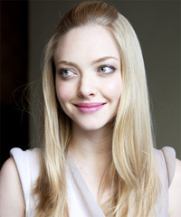 Amanda Seyfried Half Up Long Straight Casual  - side view