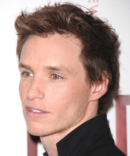 Eddie Redmayne - Casual Short Wavy Hairstyle - side view