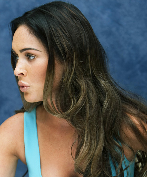 Megan Fox Long Straight Casual Hairstyle - side view