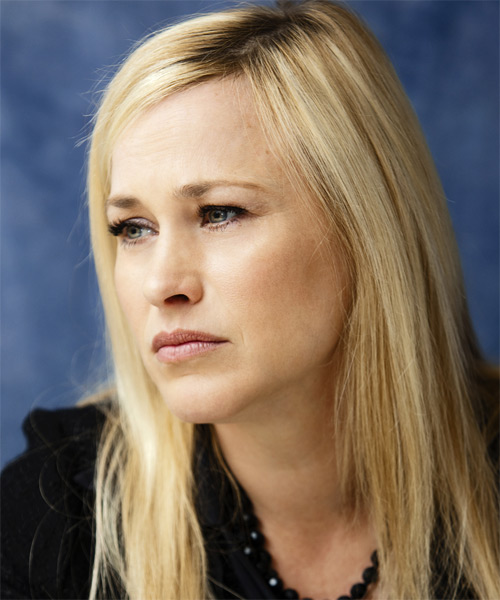 Patricia Arquette  Long Straight Hairstyle - Light Blonde - side view 1